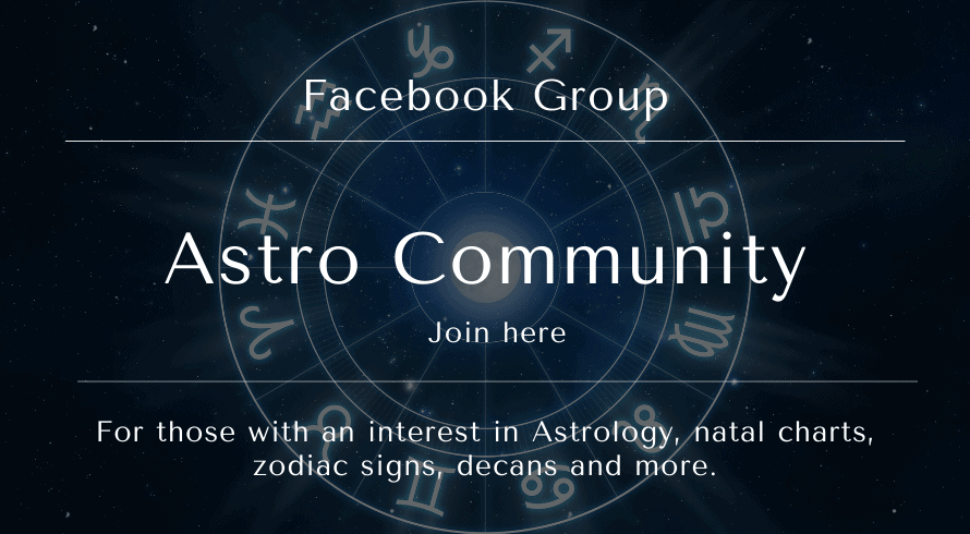 For those with an interest in Astrology, natal charts, zodiac signs, decans and more.