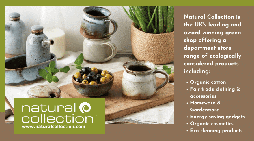 Natural Collection is the UK's leading and award-winning green shop offering a department store range of ecologically considered products.