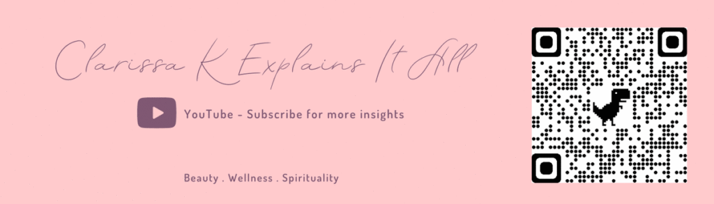 I am Clarissa K, Beauty, Wellness and Spiritual Guru. I combine Astrology and Spirituality with Beauty and Wellness to explore and highlight the beauty of who we are inside and out. If you like to explore the layers of life and want to know more, you are in the right place; let's explore together.
